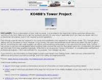 KO4BB's Tower Building Project
