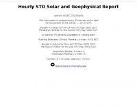 Hourly STD Solar and Geophysical Report