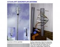 137 MHz QHF Quadrifilar APT Antenna