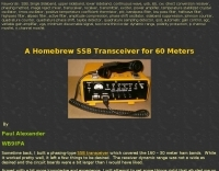 A Homebrew SSB Transceiver for 60 Meters