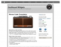 Morse Code translator widget