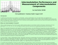VK5BR : Intermodulation