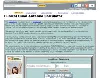 DXZone Cubical Quad Antenna Calculator