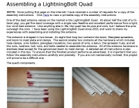 Assembly of the Lightningbolt Quad