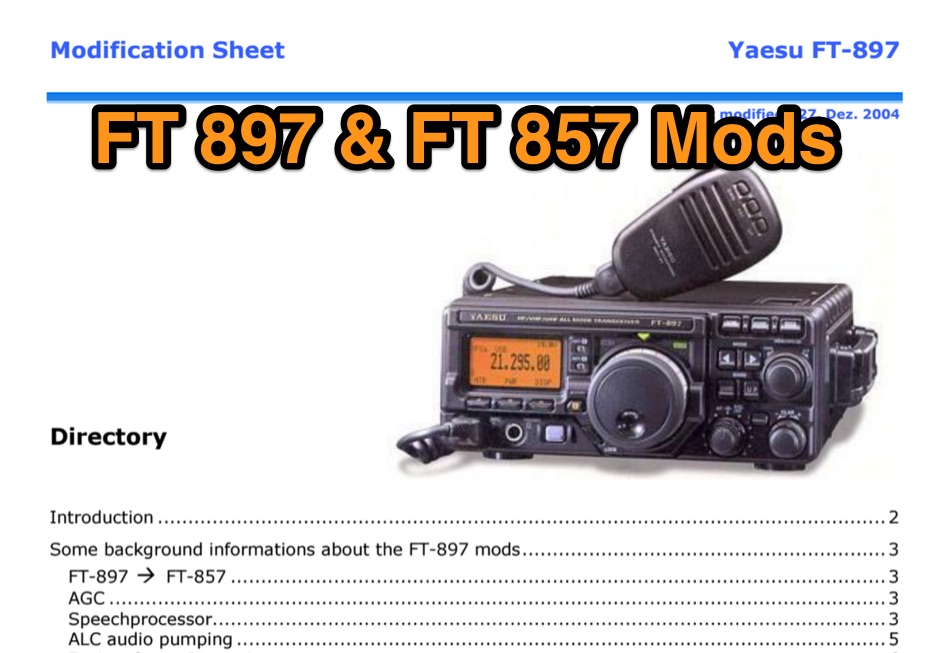 FT-897D Modification sheet