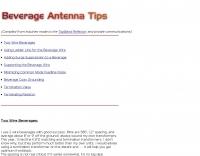 Beverage antenna tips