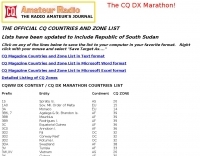 DXZone Official CQ countries and Zone List