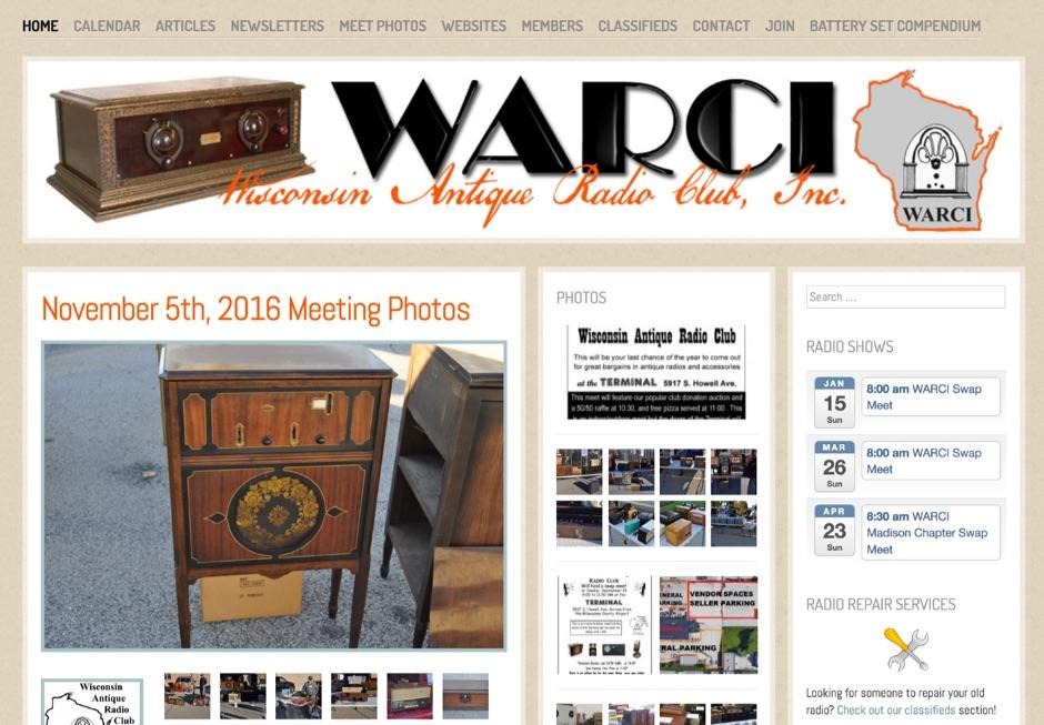 Wisconsin Antique Radio Club - Online
