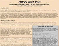 QRSS and you (About VERY low-speed CW)
