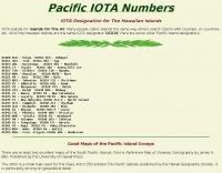 DXZone Pacific IOTA Numbers