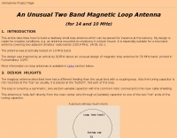 An Unusual Magnetic Antenna