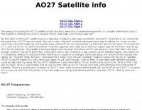 AO-27 Satellite page