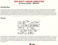 10 W Linear Amplifier