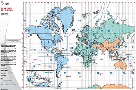 CQ Zones World Map