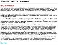 Antenna construction hints
