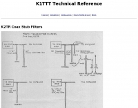 K2TR Coax Stub Filters