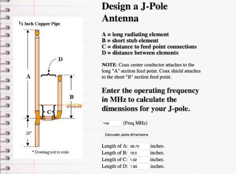 Design a j-pole antenna.