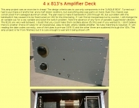 4 x 813's RF Amplifier Deck
