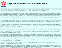 Types of Antennas for Satellites