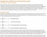 Sensitivity of Multi Turn Receiving Loops