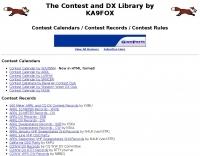 KA9FOX Library: Contest Calendars, Records, Rules
