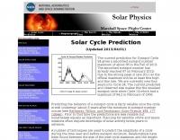 NASA Sunspot Cycle Predictions
