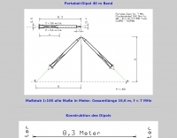 Portable dipole for 40 Meters band