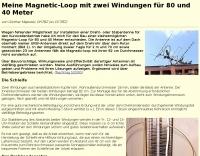 Magnetic Loop for 80 and 40 Meters