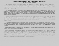 Off-Center Feed - The Windom Antenna