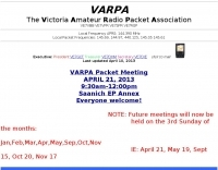 The Victoria Amateur Radio Packet Association