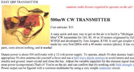 DXZone 500mw CW Transmitter