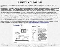 L Match ATU for QRP