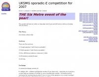 UKSMG sporadic-E  competition