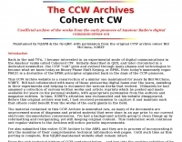 The Coherent CW  Archives