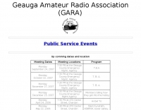 DXZone GARA Giles Amateur Radio Association,