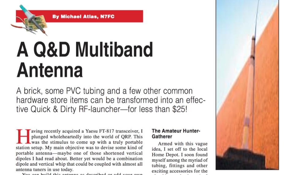 A Q&D Multiband Antenna