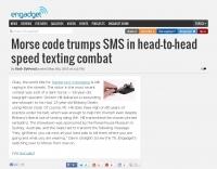 Morse code vs SMS - Speed test