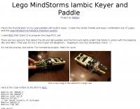 Lego Paddle