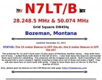 N7LT Beacon