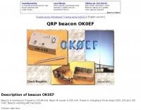 DXZone OK0EF  QRP Beacon