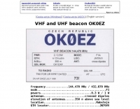 DXZone OK0EZ  VHF UHF Beacon