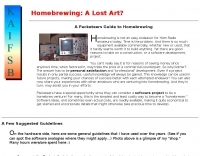 Homebrewing: A Lost Art