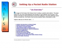 Setting Up a Packet Radio Station