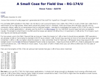 RG-174/U  A Small Coax for Field Use