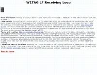 W1TAG LF Receiving Loop