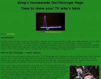 DXZone Greg's Homemade Oscilloscope Page