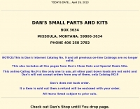 DXZone Dan's Small parts and kits