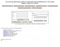Convert addresses to Latitude and Longitude