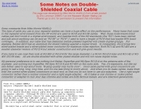DXZone Notes on double shielded coax cables