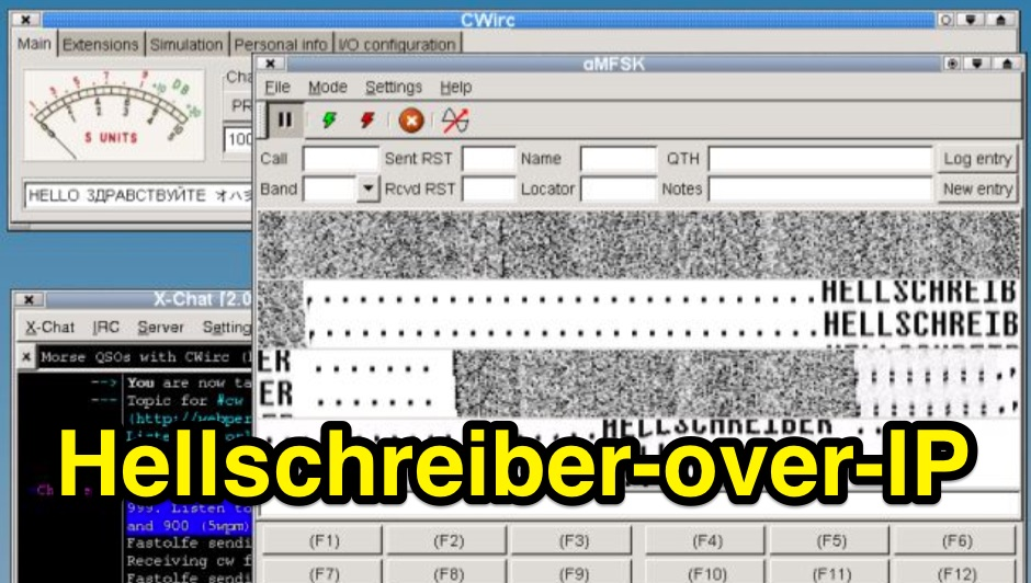 HELLoIP - CWirc Hellschreiber extension